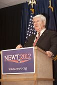 Speaker Gingrich at the podium.