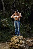 Fighter Man Meditating