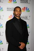 LOS ANGELES - FEB 17:  Aaron D Spears arrives at the 43rd NAACP Image Awards at the Shrine Auditoriu