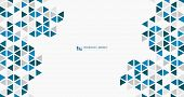 Abstract Wide Blue Cube Of Geometric Hexagonal Low Pattern Design Technology. Illustration Vector Ep poster