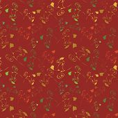 Maroon Seamless Background With Varicoloured Flowers