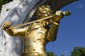 Johann Strauss Monument In Vienna poster