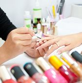 Manicure Procedure, Closeup