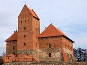 Medieval Castle Tower In Trakai, Lithuania