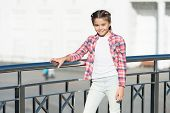 Girl Cute Kid Urban Background. Activities For Teenagers. Vacation And Leisure. Weekend Events For K poster