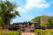 Phimai Historical Park.the Ruins Of The Temple In Historical Park In  Nakhon Ratchasima Thailand poster