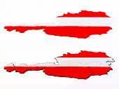 Topographic view - Flag of Austria