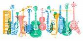 Musical Instruments, Guitar, Fiddle, Violin, Clarinet, Banjo, Trombone, Trumpet, Saxophone, Sax, Mus poster