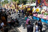 CHIANG MAI, THAILAND - FEBRUARY 4: View on floral floats procession on Chiang Mai 36th Flower Festiv