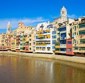 houses on river Onyar, Girona, Spain