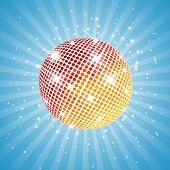 Red and yellow disco ball
