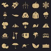 Overcast Icons Set. Simple Set Of 25 Overcast Vector Icons For Web For Any Design poster