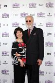 LOS ANGELES - FEB 25:  Anna Stuart, James Cromwell arrives at the 2012 Film Independent Spirit Award