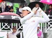 Julie Inkster (EUA) na Copa de golfe Evian Masters 2011