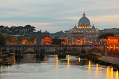 Vatican At Early Evening