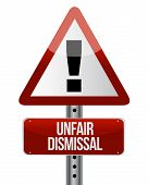 Road Traffic Sign With An Unfair Dismissal Cost