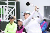 Sun Ju Ahn (KOR) at The Evian Masters golf tournament 2011