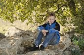 Youngster Resting In Nature