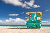 image of beach hut  - Miami Beach Florida - JPG