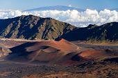Colorful Cinder Cones Inside Haleakala Crater