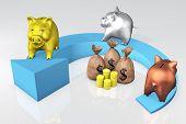 Piggies Bank On The Arrow