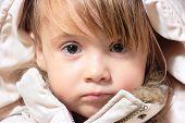 Winter-Dressed Baby Girl Portrait