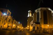 Banska Stiavnica At Night