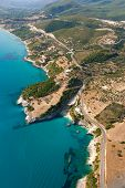 Aerial view on the island of Zakynthos Greece