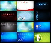 stock photo of cardiology  - Medical backgrounds or can be used as business cards - JPG