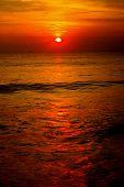 Sunset Reflecting In Ocean