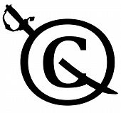 Black Copyright Infringement Notice Icon
