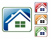 Colorful House Icons