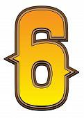 Western Alphabet Number  - 6