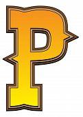 Western Alphabet Letter - P