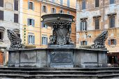 The Fountain In Piazza Santa Maria In Trastevere