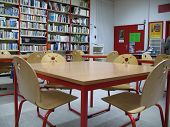 School Library & Chairs