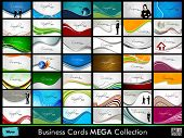 Professional Business Card Set. Eps 10, Vector Illustration