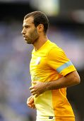BARCELONA - MAY, 26: Javier Mascherano of FC Barcelona before the Spanish League match between Espan