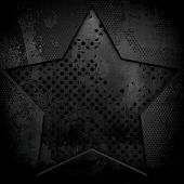 stock photo of iron star  - grunge iron plate with star pattern - JPG