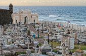 stock photo of burial-vault  - An old cemetery in San Juan Puerto Rico - JPG