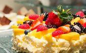 Mix Strawberry Fruit Cheese Cake