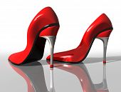 picture of stiletto heels  - Illustration of a pair of elegant red high heel shoes - JPG