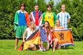 picture of holland flag  - International sports team with men and women from various nationalities - JPG