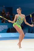 KIEV, UKRAINE - AUGUST 29: Margarita Mamun of Russia in action during the 32nd Rhythmic Gymnastics W