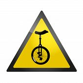 Unicycle roadsign