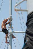 Man Working Aloft