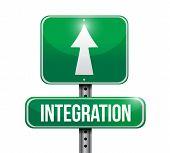 Integration Road Sign Illustration Design