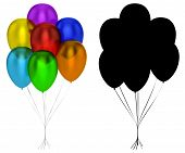Translucent Balloons Isolated