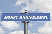Money management road sign
