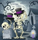 Skeleton theme image 2 - eps10 vector illustration.